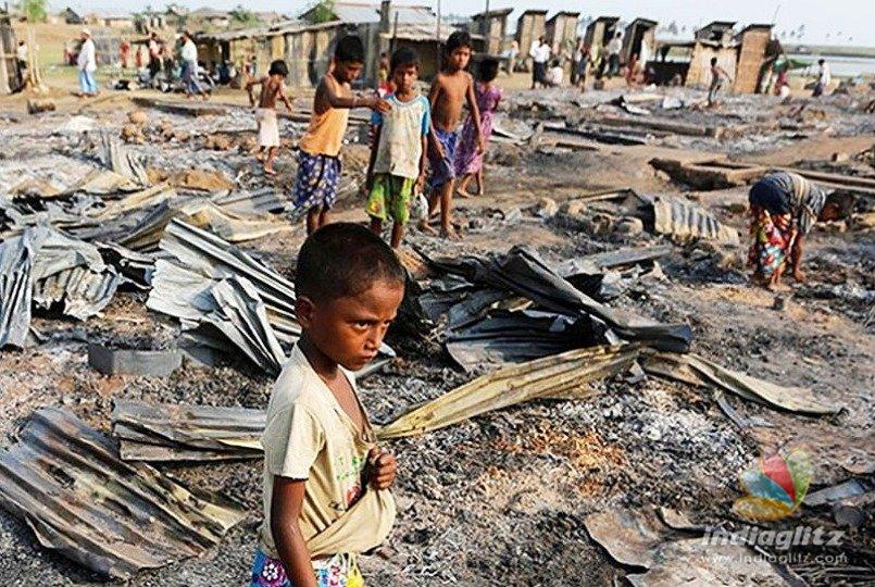 Fire breaks out at Rohingya refugees' camp at Delhi's Kalindi Kunj
