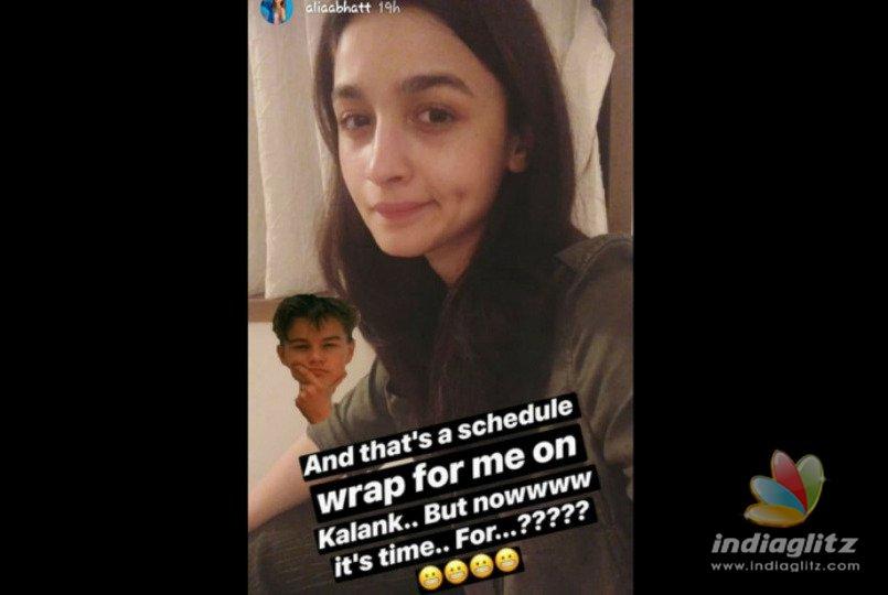 Alia Bhatt Gives Important Update On 'Kalank'