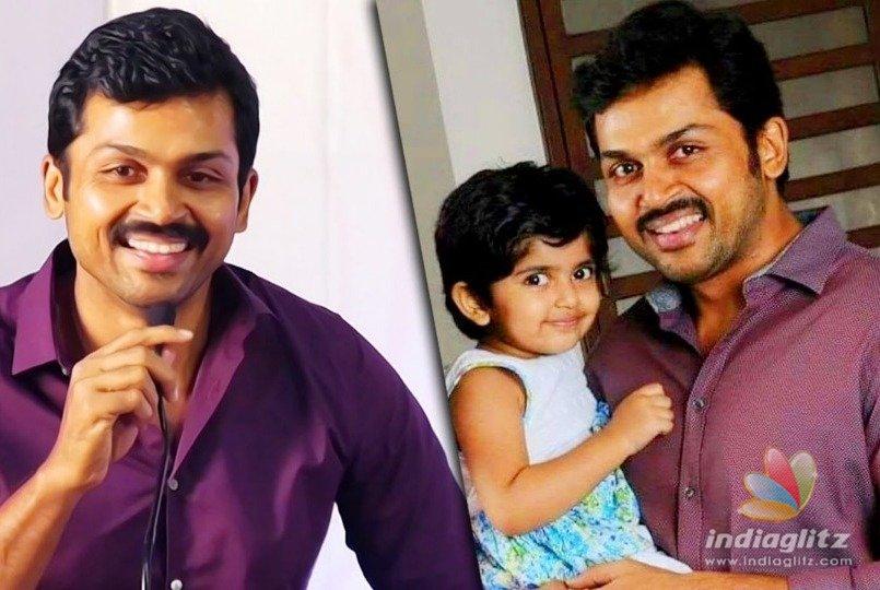 Karthi shares a touching information about his daughter ...  Actor Karthi Daughter Umayaal Photos