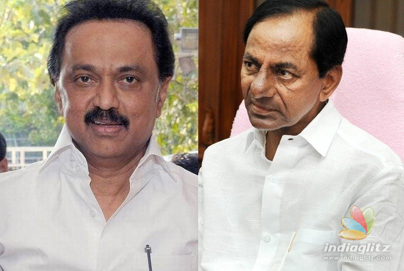 Telangana CM Chandrasekhar Rao meets DMK's Stalin in TN