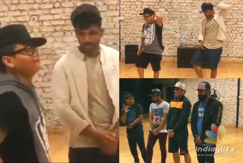 Watch Allu Arjun learn cap tricks for Naa Peru Surya