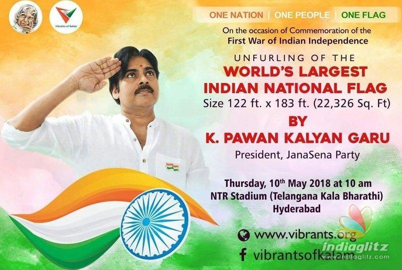 Pawan Kalyan to unfurl worlds largest Tricolour